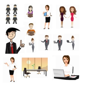 Business Cartoon Characters Pack
