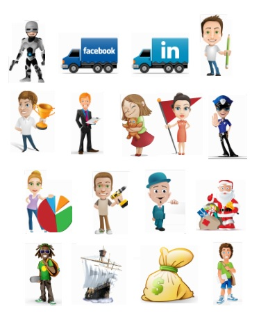 Toon World Cartoon Vector Characters Pack